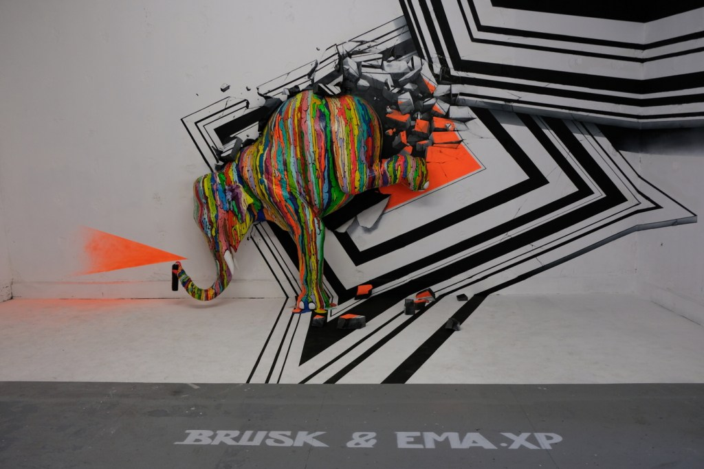 Éléphant de Brusk x Ema XP au Zoo Art Show