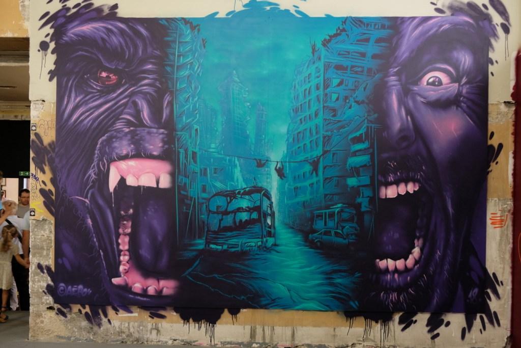 La jungle des villes vue par Aero au Zoo Art Show
