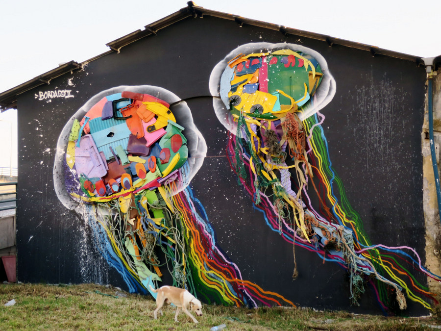 Oeuvre du street artist portugais Bordalo II