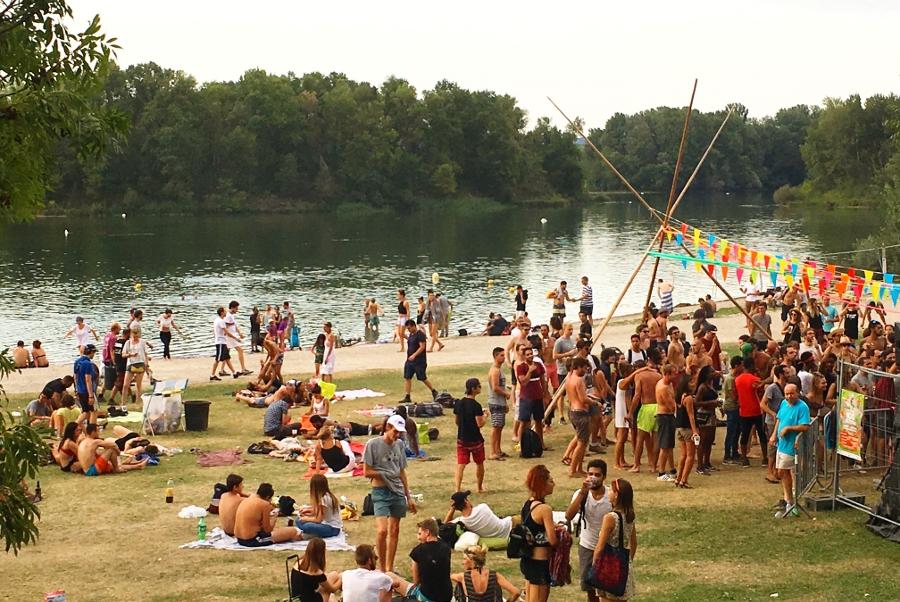 La plage du festival Woodstower