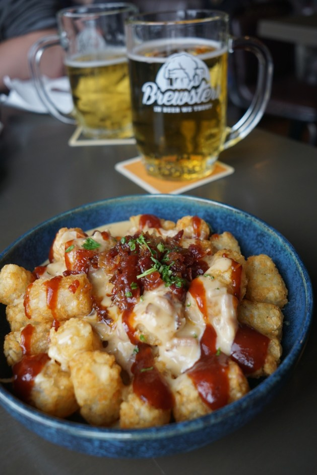 Brewsters Cheesy Tater Tot Poutine