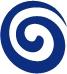 The Krempels Center logo, a blue swirl