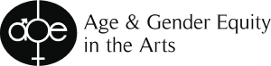 Age & Gender Equity in the Arts logo.