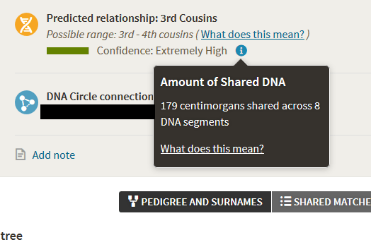 How to find shared centimorgans on ancestry