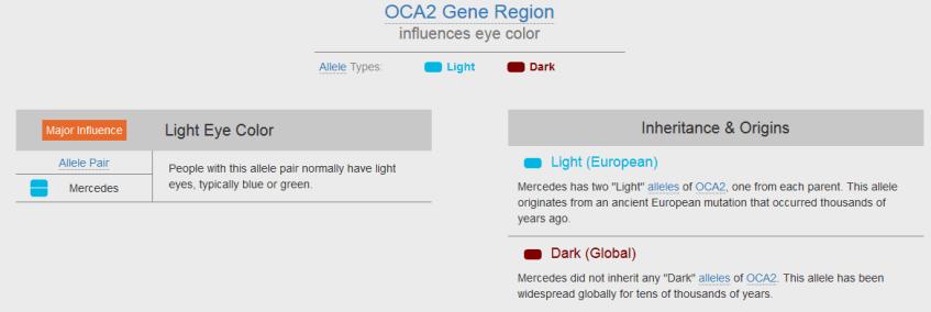 Example of Gene Heritage Report