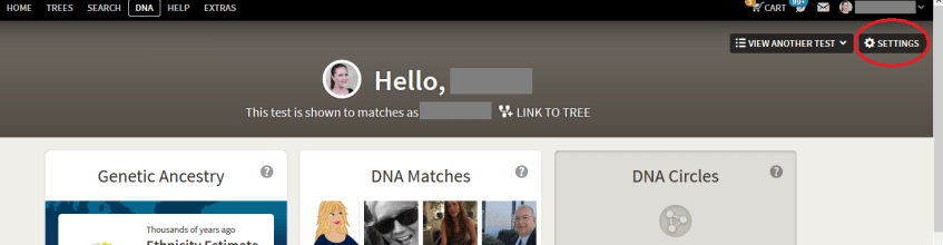 Where is the DNA Settings Page on Ancestry