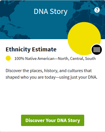 does Ancestry DNA test for Native American