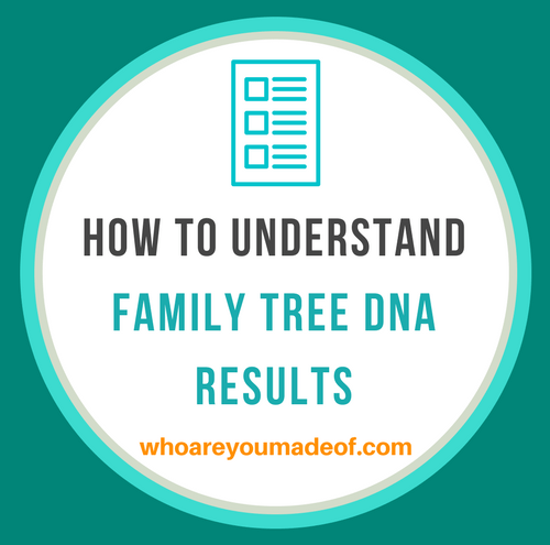 How to understand family tree DNA results