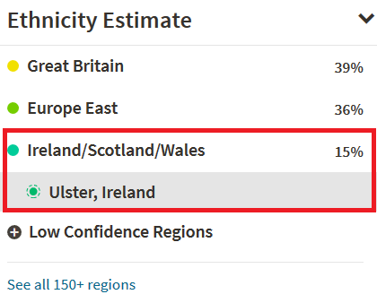 What does Irish look like on Ancestry DNA