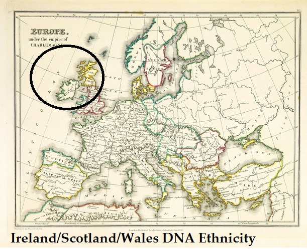 Map Of Ireland And Wales.Ireland Scotland Wales Dna Ethnicity On Ancestry Who Are You Made Of