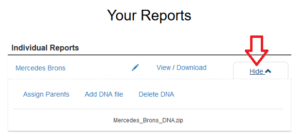 How to delete DNA from Gene Heritage website