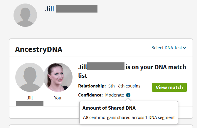 A Child shares less DNA with a match than the mother