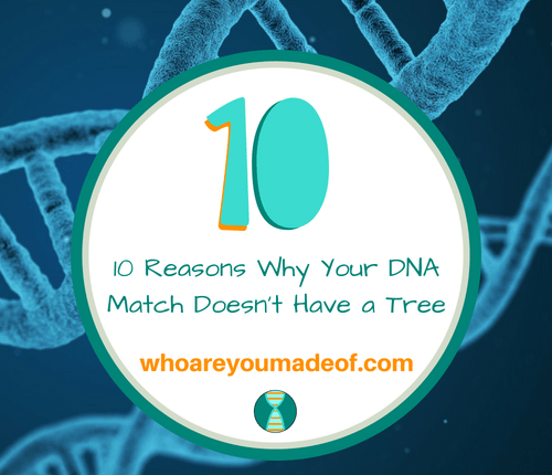 10 Reasons Why Your DNA Match Doesn't Have a Tree