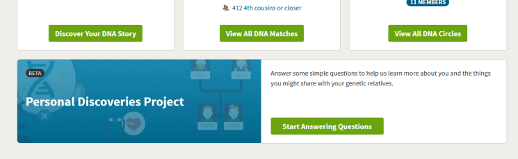 Where will I see my Ancestry Personal discoveries on my account