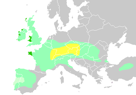 Celtic expansion in Europe and influence on DNA of region