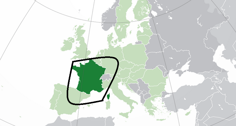 where is the france dna ethnicity on ancestry located
