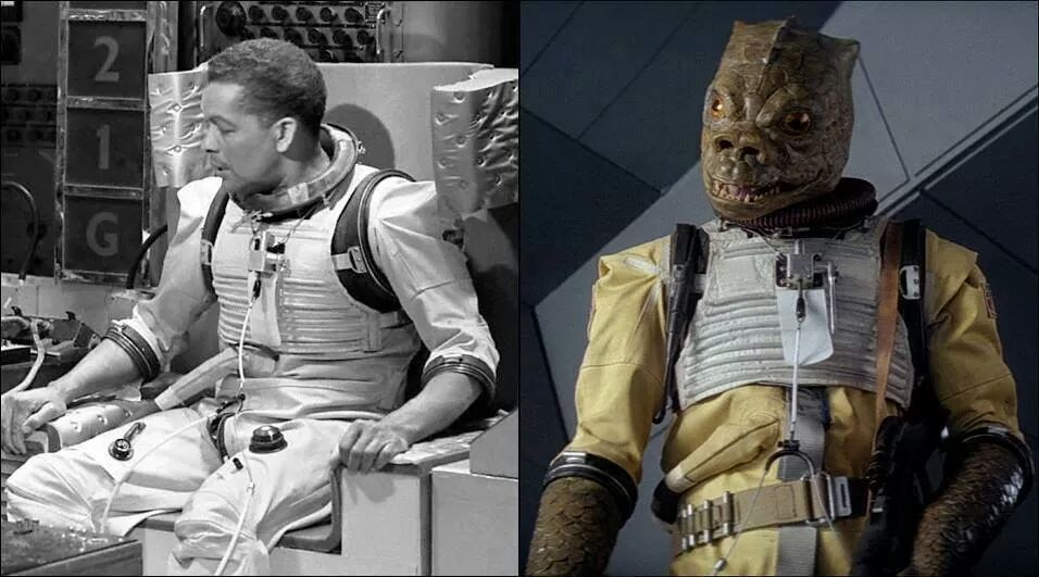Bossk's clothing is a recycled spacesuit from the classic Doctor Who episode The Tenth Planet