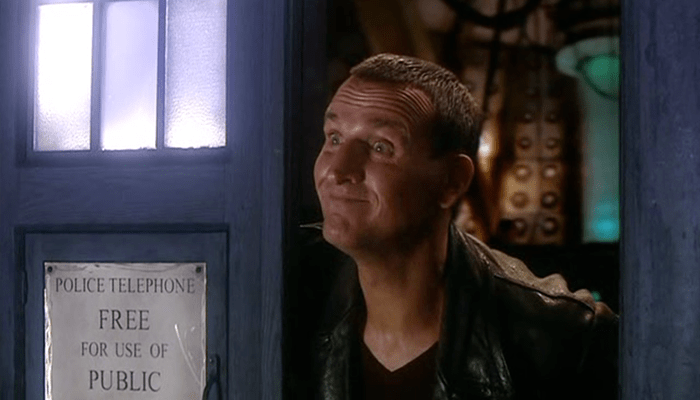 Christopher Eccleston as the 9th Doctor