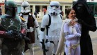 Mirimu as Amidala with Boba Fett Kylo Ren and storm troopers cosplay at OxCon Oxford 2016 Comic Con WhoBackWhen