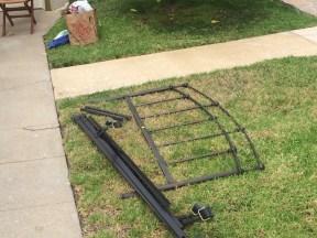 Metal bed frame & headboard