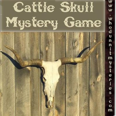 An Old West Adventure Murder Mystery game for a large group