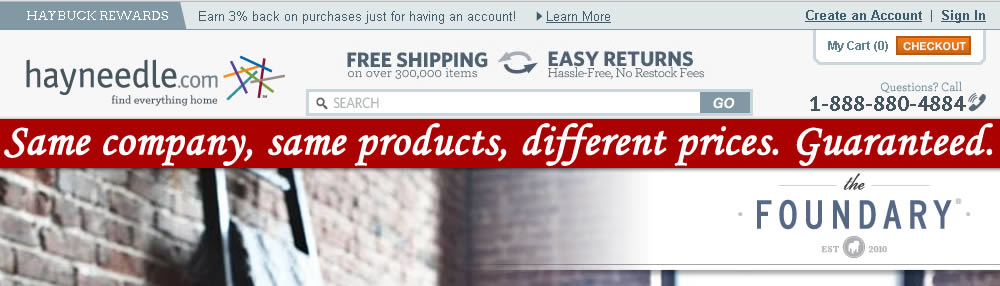REVIEW: Thefoundary.com & Hayneedle.com Same company, same products, different prices.