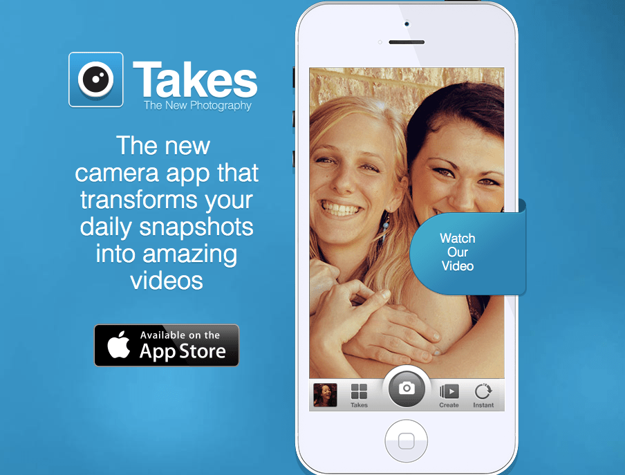 Takes Photo App: Turn your pictures into a herky-jerky movie to spam your friends' timelines!