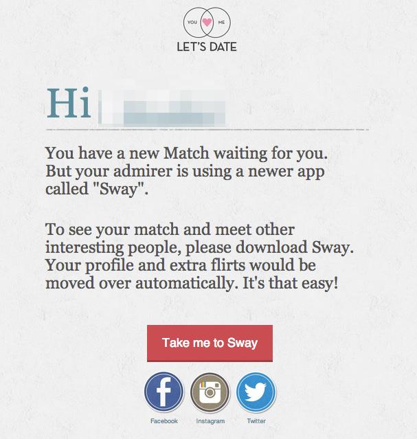 facebook dating app spam