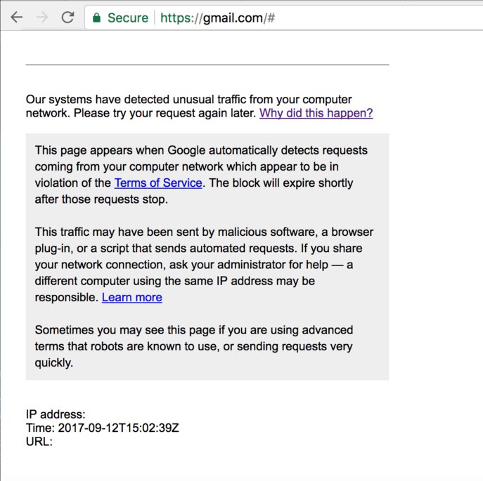 And down Gmail Goes, It's not just you, it's everyone!
