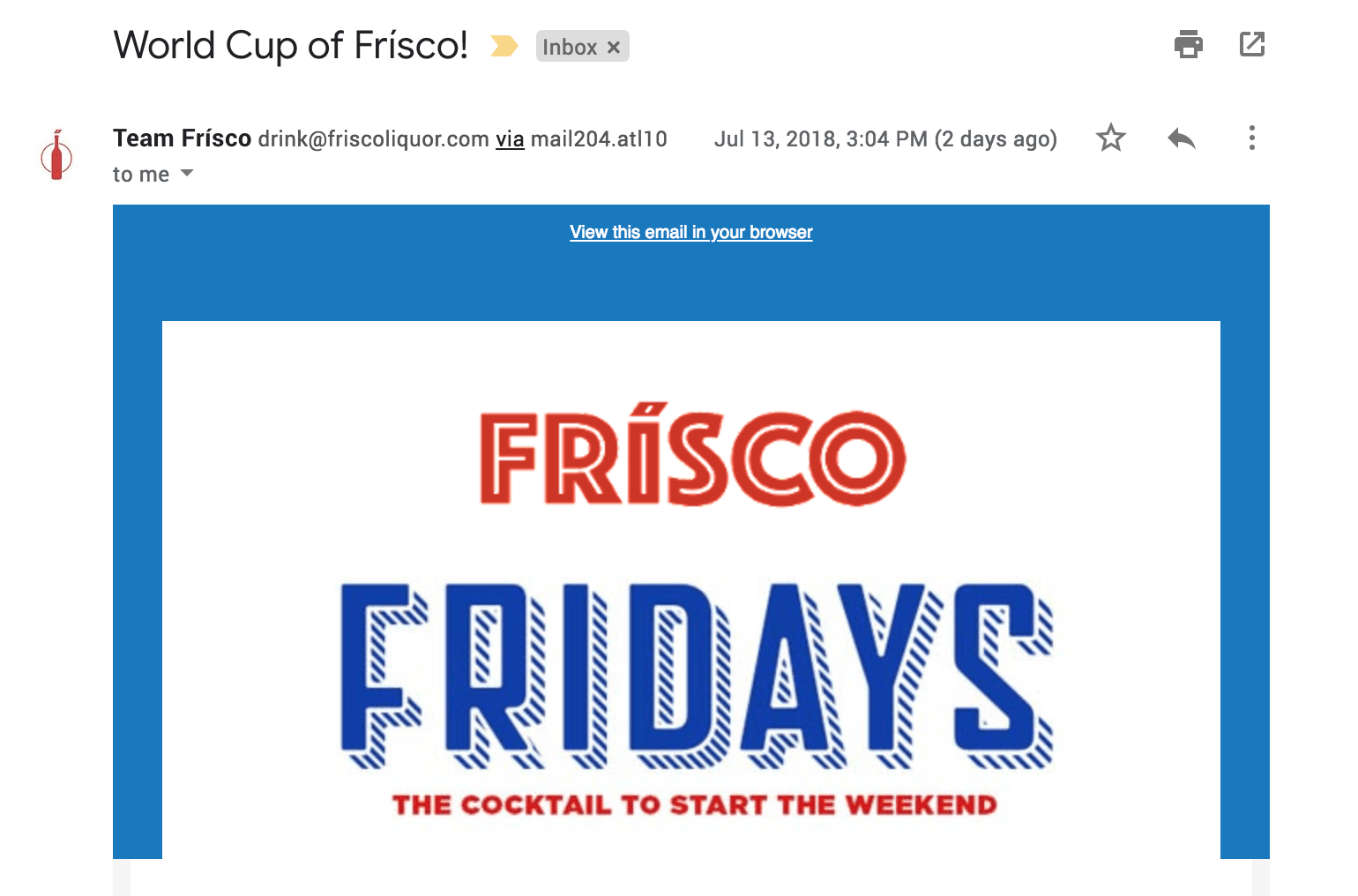 What's a Frísco Friday and wtf are you doing in my inbox?