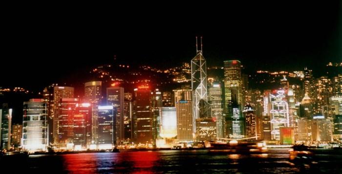 香港维港夜色