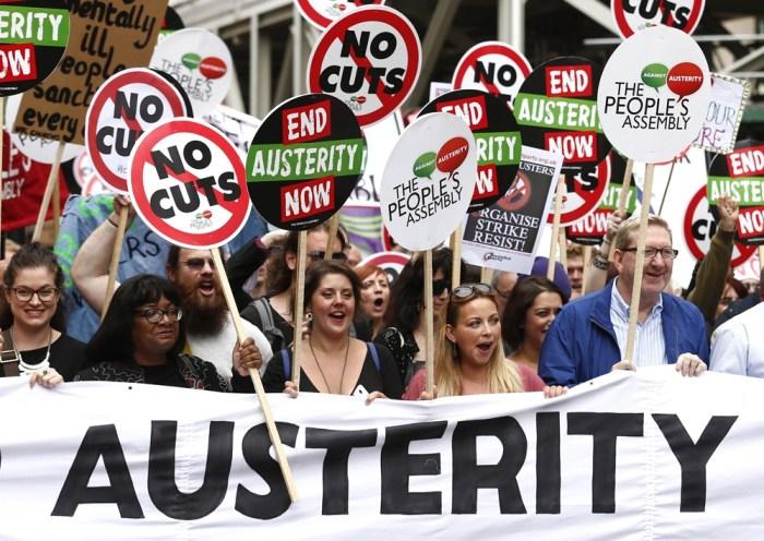 TOPSHOTS-BRITAIN-POLITICS-AUSTERITY-DEMO