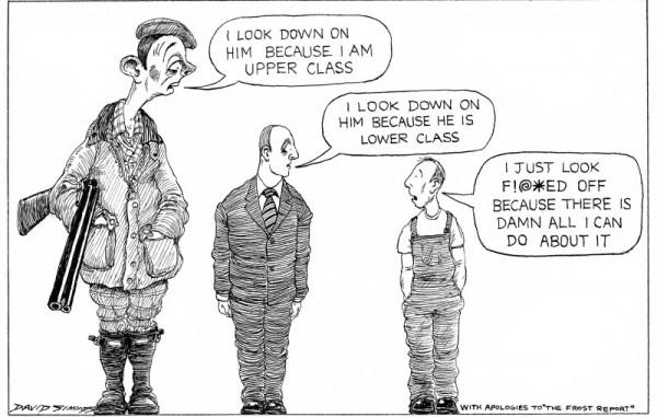 下層階級只能表達對社會階層化與不平等的憤怒與無奈。