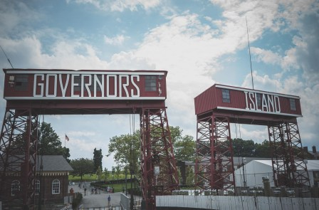 Arriving at Governor's Island