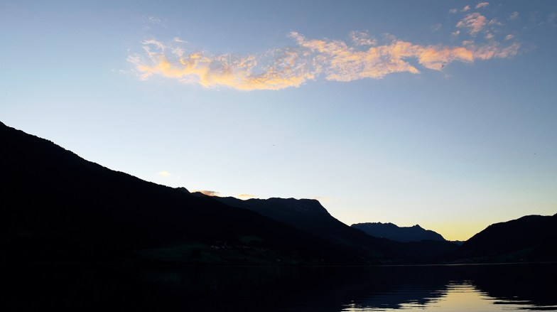 lago di resia - long after sunset .. (click to enlarge ..)