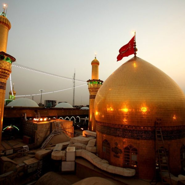 Hussain ibn Ali is buried in Karbala where a shrine has been built over his place of burial.