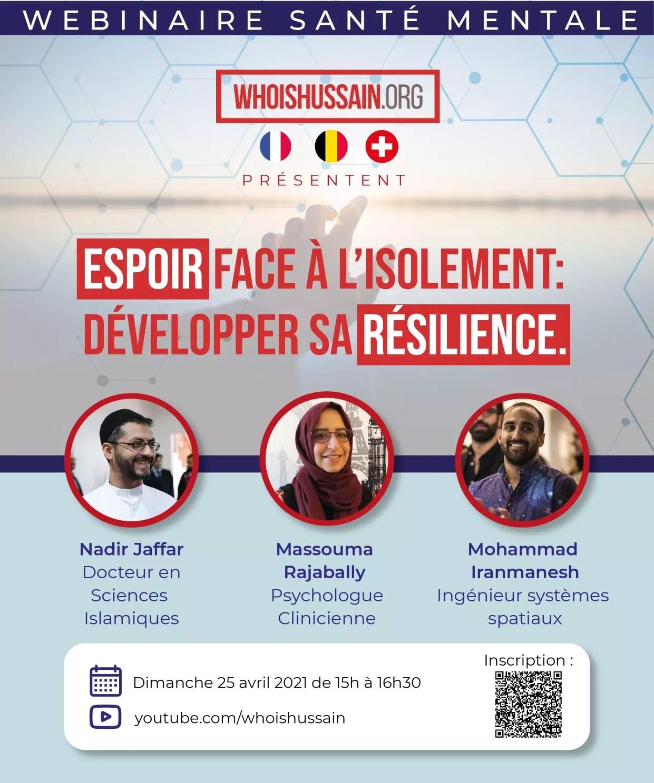 Affiche Webinaire Sante Mentale Who is Hussain Suisse France Belgique 1