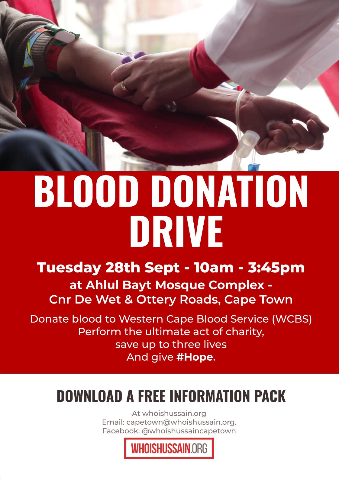 Blood Donation Cape Town 20210928