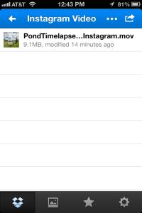 Instagram Video iOS Folder