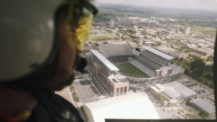Everything is cooler from the air, especially Kyle Field.