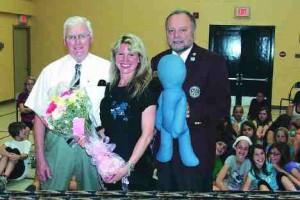 Kelly Clark is awarded a Paul Harris award