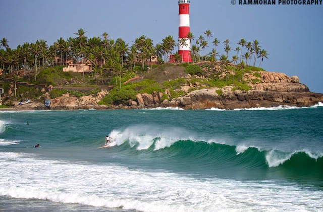 Lighthouse Surf at Kovalam.