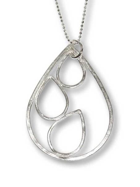 Windsong Jewellery Design Argentium Silver Large Raindrop Pendant