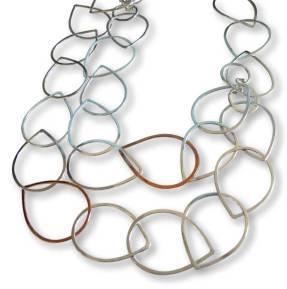 Windsong Jewellery Design Argentium Silver Long Raindrop Necklace
