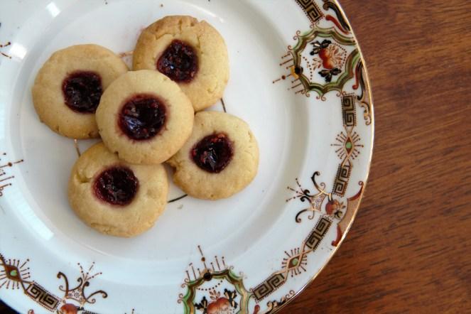 Jam dot biscuits