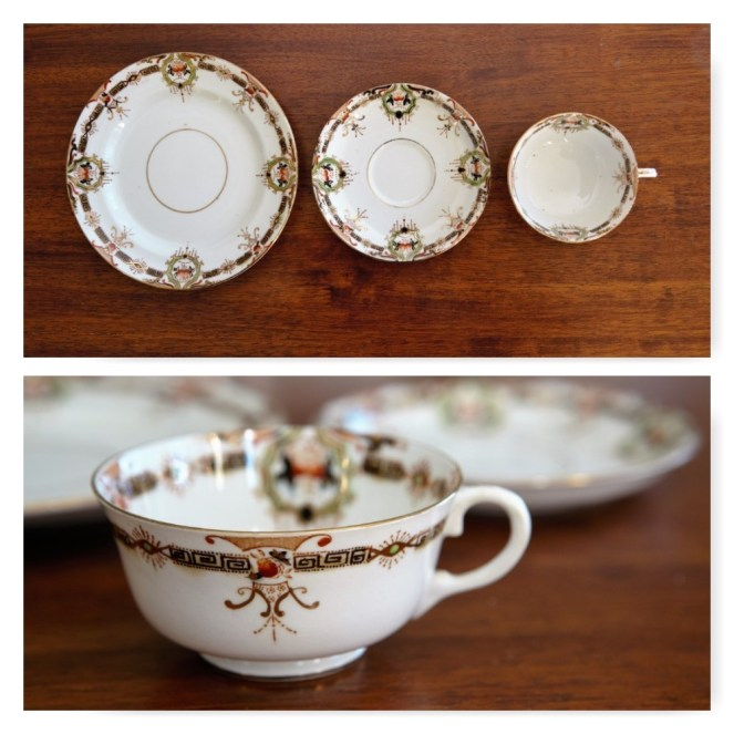 Art Deco tea cup and plates