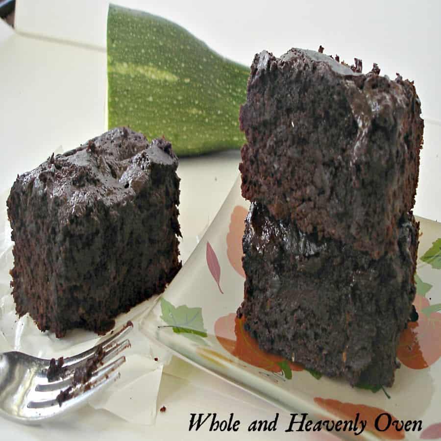 Zucchini Fudge Brownies13