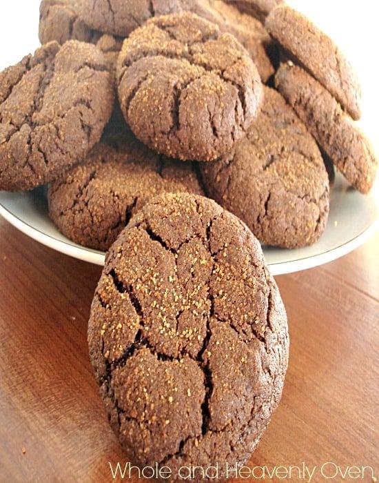 Chocolate Molasses Crinkle Cookies