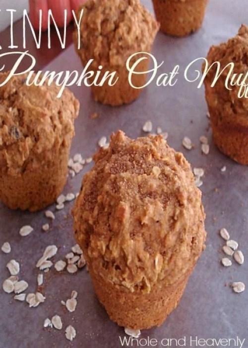 Skinny Pumpkin Oat Muffins