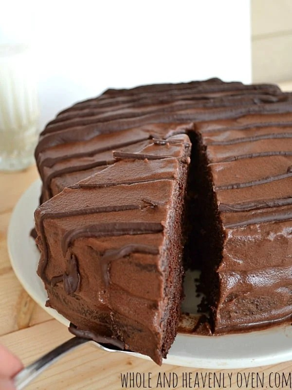 Death-By-Chocolate Layer Cake | wholeandheavenlyoven.com
